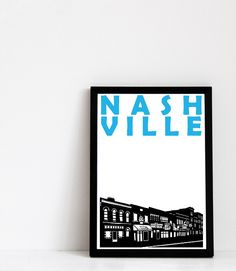 Nashville Print (A4) Nashville Art by Pomalia on Etsy https://www.etsy.com/listing/189975510/nashville-print-a4-nashville-art