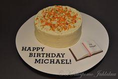 Michaelin porkkanakakku Birthday, Cake, Desserts, Food, Tailgate Desserts, Birthdays, Deserts, Kuchen, Essen