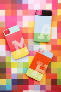 Gorgeous monogrammed iPhone cases