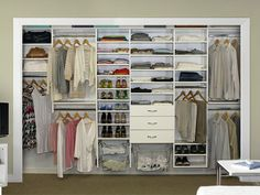 Reach in Closet Doors Ideas   ... Truly custom designed closets that utilize every inch of your closet