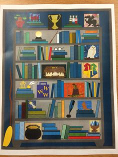Here's the pic I created of the bookcase quilt