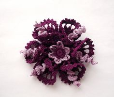 Hey, I found this really awesome Etsy listing at https://www.etsy.com/listing/186826191/purple-brooch-purpale-crochet-brooch
