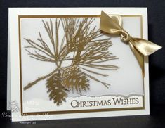 I absolutely LOVE the Ornamental Pine stamp set in the Holiday Mini.  I used the this set for my project for Create with Connie and Mary Holiday Collection 2014 and now that it is Hop Day for our designers I just HAD to use it for my card!  For all the details and to start the hop, check out my blog... http://stampercamper.com/2014/11/01/ornamental-pine-2/