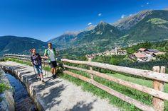 Waalwege in Schenna in Südtirol