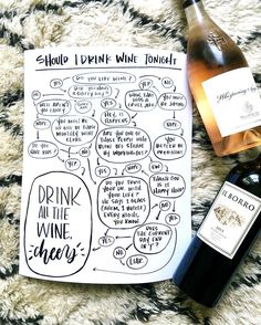 """666 Likes, 60 Comments - write on! design (@jenngietzen) on Instagram: """"it's here! excited that this guy is now available as a print 🙌🏻🍷 should you drink wine tonight?…"""""""