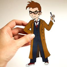 David Tennant Inspired Paper Doll Digital by AppliqueGeekDesigns