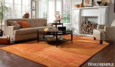 Pantone Expressions 59980 Area rug by Oriental Weavers. #orange #bright