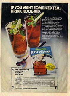 "KOOL-AID :: ""IF YOU WANT SOME ICED TEA-""; Save 5¢ (( 1973 ))"