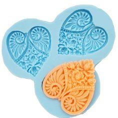 Resin Mold Soap Mold Silicone Mold Flexible Mold 3-holes Heart Shape DIY Handmade. $6.59, via Etsy.