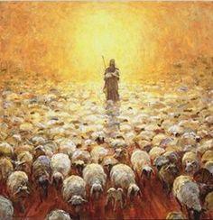 pictures of jesus the shepherd Lord Is My Shepherd, The Good Shepherd, Jesus Shepherd, Lds Art, Bible Art, Image Jesus, Jesus Art, Prophetic Art, Biblical Art