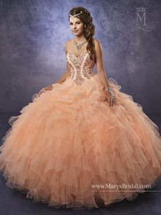 1094cb9ff28 Mary s Bridal Princess Collection Quinceanera Dress Style 4Q485