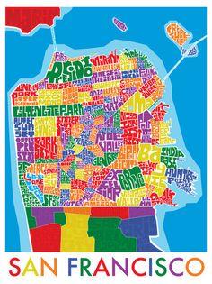 San Francisco Neighborhood Type Map