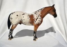 Flashy! TR Bay Blanket Appaloosa Quarter Stock Horse Ceramic China Figurine Appaloosa, Giraffe, Originals, China, Horses, Ceramics, Blanket, Hall Pottery, Pottery