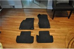B8 OEM Black Cloth Floor Mats