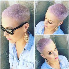 Fresh Lavender Buzz Thanks @katiezimbalisalon #BuzzCutFeed #ShavedHead #BuzzCut #BuzzCuts #BuzzCutChallenge #GirlsWithBuzzCuts #GirlsWithShavedHeads