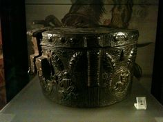 Crown box, leather, Germany 14th century