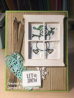 A Stampin' Up! Diy Cards, Holiday Cards, Christmas Cards, Stampin Up Christmas, Noel Christmas, Alpine Adventure, Mini Albums, Snowman Cards, Window Cards