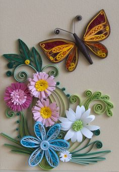 neli: Quilling card-piece of spring