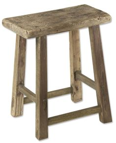 Just found this Rustic Wooden Stool - Rustic Stool -- Orvis on Orvis.com! Maybe can be made if re-salvaged wood found...
