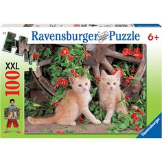 """Pretty Kitties 100 Piece Puzzle: This jigsaw puzzle measures 19.25"""" x 14.25"""" when complete. For ages 6 and up.  $11.99  http://calendars.com/Kittens/Pretty-Kitties-100-Piece-Puzzle/prod201200010260/?categoryId=cat00186=cat00186#"""