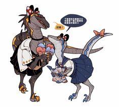 My English sucks, So you can see a lot of emoji……😗 Blue Jurassic World, Jurassic World Dinosaurs, Dinosaur Funny, Dinosaur Art, Character Inspiration, Character Art, Character Design, Jurrassic Park, Snake Art