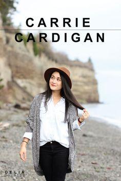 Carrie Cardigan - Sewing Pattern RELEASE! // www.deliacreates.com
