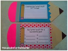 """The Write Stuff craftivity can be used for the end of the year, OR the beginning of the school year! 1st Grade Writing, Teaching Writing, Writing Activities, Teaching Ideas, Writing Ideas, Beginning Of The School Year, Last Day Of School, School Fun, School Stuff"