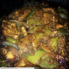 So here I have mouth watering pepper chicken