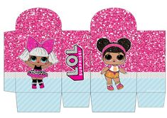 6th Birthday Parties, 8th Birthday, Champagne Wedding Flowers, Paper Box Template, Doll Party, Lol Dolls, Holidays And Events, Party Themes, Goodies