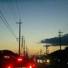 夜が始まる#sky #sunset #空 #夕焼け #イマソラ