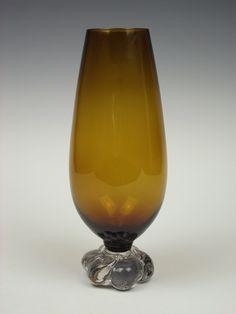 Åseda amber coloured glass vase by art-of-glass, via Flickr