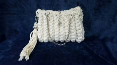 Knitted Bags, Upcycle, Crochet Necklace, Shabby Chic, Hand Painted, Throw Pillows, Handmade, Fashion, Moda