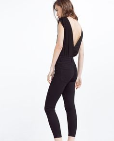Image 5 of HIGH WAIST SKINNY TROUSERS from Zara