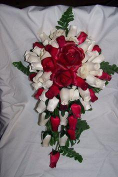 wooden rose cascading bouquet Wedding Stuff, Wedding Day, Cascade Bouquet, Wooden Flowers, Special Events, Christmas Wreaths, Unique Gifts, Wedding Planning, Lisa