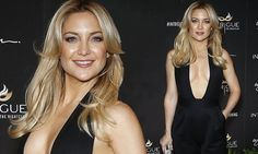 Kate Hudson flaunts her assets in plunging black jumpsuit as she leads the glamour at star-studded grand opening of a new Las Vegas nightclub | Daily Mail Online