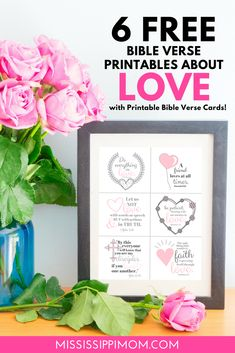 6 FREE Bible Verse Printables | 6 Printable Bible Verse Cards | BIBLE Verses about True Love Family Bible Verses, Bible Verses For Women, Bible Verses About Love, Printable Bible Verses, Christian Living, Christian Women, Christian Quotes, True Love, Verses For Cards