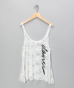 Ivory 'Dance' Lace Tank - Women | Daily deals for moms, babies and kids