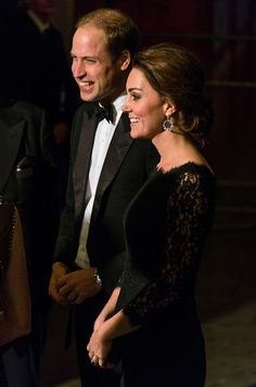 These two! See the best pics of Prince William and Kate Middleton at the Royal Variety Performance