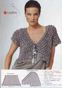 Purple Bolero free knitting graph pattern