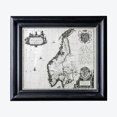 Skandinavia kart bilde m/ramme Cottage, Home Decor, Pictures, Decoration Home, Room Decor, Cottages, Cabin, Home Interior Design, Home Decoration