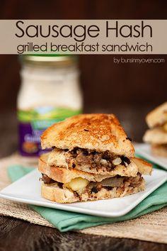 Sausage Hash Grilled Breakfast Sandwich