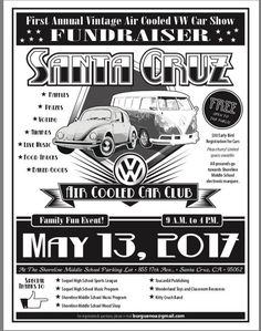 A poster designed for a charity car wash at sainsburys local 1st annual shoreline middle school car show fundraiser aircooled vw show n shine santa solutioingenieria