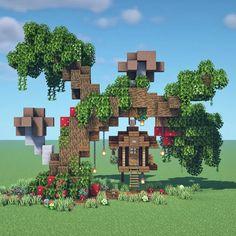 Minecraft Mansion, Minecraft Cottage, Minecraft House Tutorials, Cute Minecraft Houses, Minecraft House Plans, Minecraft City, Minecraft House Designs, Amazing Minecraft, Minecraft Tutorial