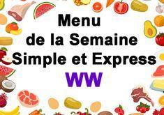 Simple and Express WW Week Menu - Main Course and Recipe Simple Muffin Recipe, Healthy Muffin Recipes, Clean Eating Recipes, Menu Leger, Menu Express, Menu Ww, Weigh Watchers, Batch Cooking, Weight Loss Smoothies