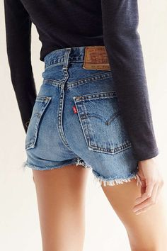 Urban Renewal Remade Denim Dolphin Short - Urban Outfitters