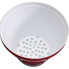 Pop corn container that will seperate the unpoped popercorn from the poped popercorn.