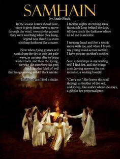'Samhain' by Annie Finch.  Image?