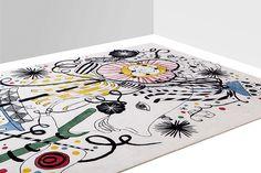 jaime hayon reinterprets afghan and japanese folklore for nodus rugs