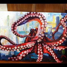 ideas painting acrylic octopus animals for 2019 Painting Inspiration, Art Inspo, Octopus Painting, Octopus Artwork, Sea Life Art, Posca Art, Wow Art, Art For Art Sake, Fish Art