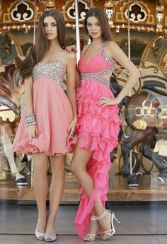 Prom Dresses 2013 - High Low Corkscrew Prom Dress from Camille La Vie and Group USA